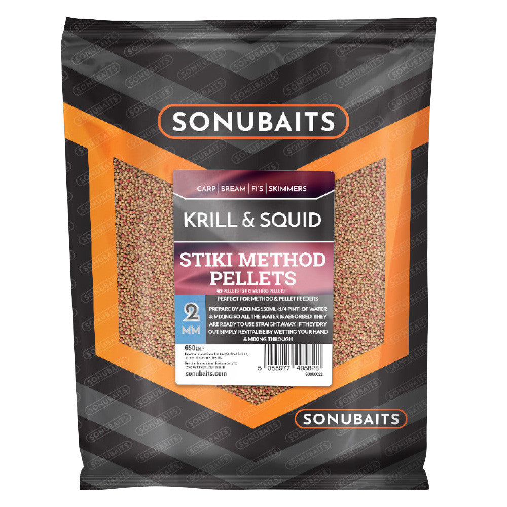 Sonubaits Stiki Krill & Squid Method Pellets 2mm