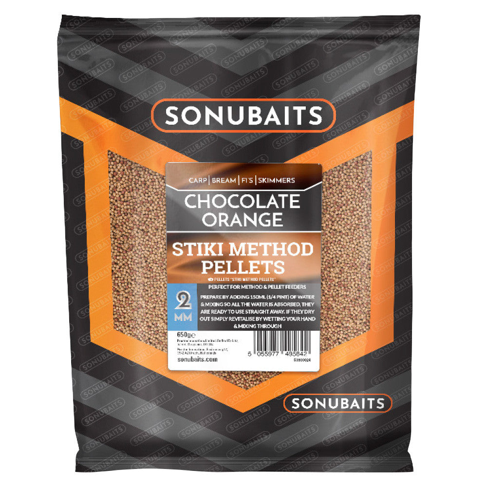 Sonubaits Stiki Chocolate Orange Method Pellets 2mm