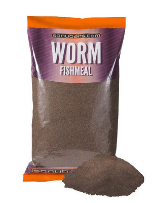 Sonubaits Worm Fishmeal Groundbait 2kg Bag, Groundbaits, Sonu Baits, Bankside Tackle
