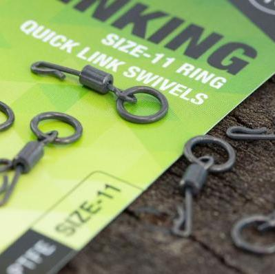 Thinking Anglers PTFE Size 11 Ring Quick Link Swivels