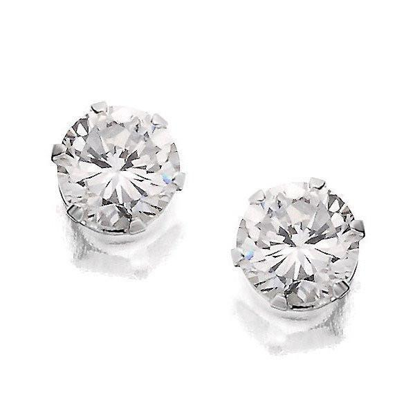 Brilliant 5Mm Silver Stud Earrings-VAVOO