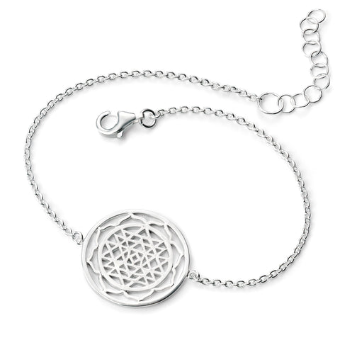 Patterned Disc Silver Bracelet-VAVOO