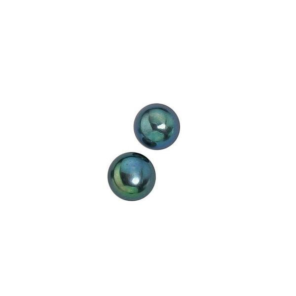 Black Pearl Silver Stud Earrings-VAVOO