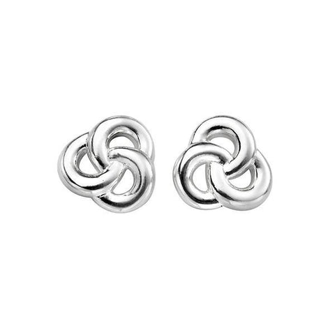 Celtic Knot Silver Stud Earrings-VAVOO