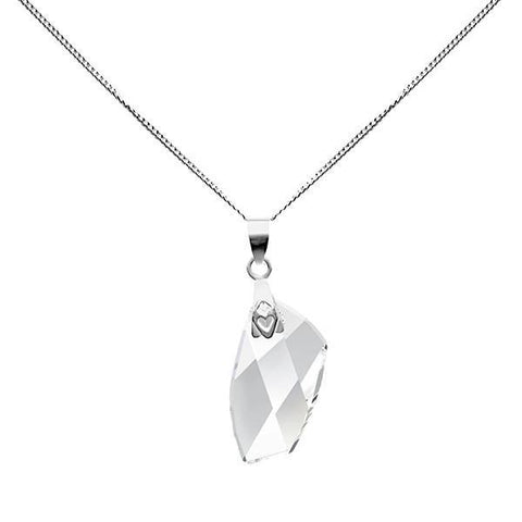 Swarovski Clear Avant-Garde Crystal Necklace-VAVOO