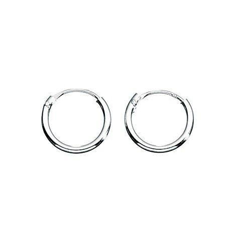 Hoop Silver Earrings-VAVOO