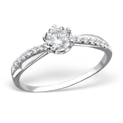 Princess CZ Silver Ring-VAVOO