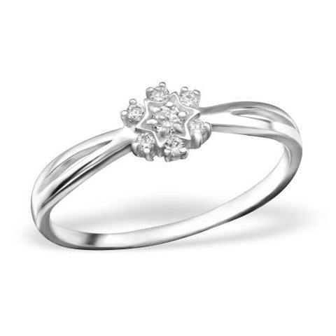 Star CZ Silver Ring-VAVOO