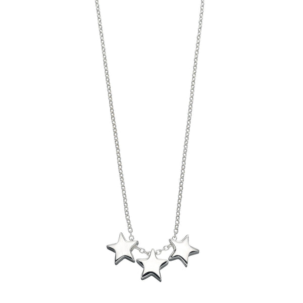 Triple Star Silver Necklace-VAVOO