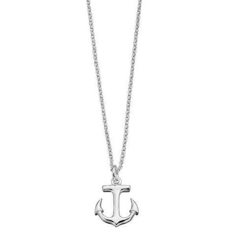 Anchor Silver Necklace-VAVOO