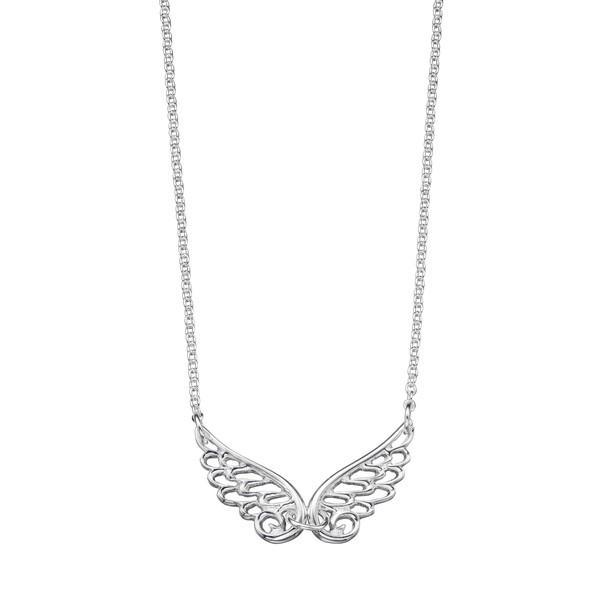 Children'S Angel Wings Silver Necklace-VAVOO