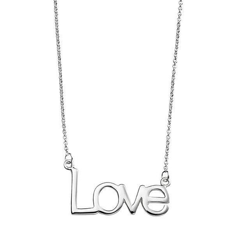 Love Silver Necklace-VAVOO