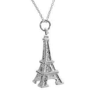 Eiffel Tower Silver Necklace-VAVOO