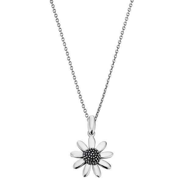 Eight Petal Flower Silver Necklace-VAVOO