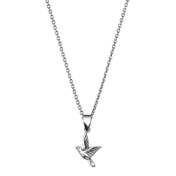 Dove Silver Necklace-VAVOO