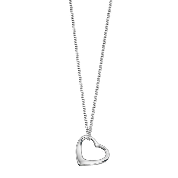 Slip On Heart Locket Silver Necklace-VAVOO