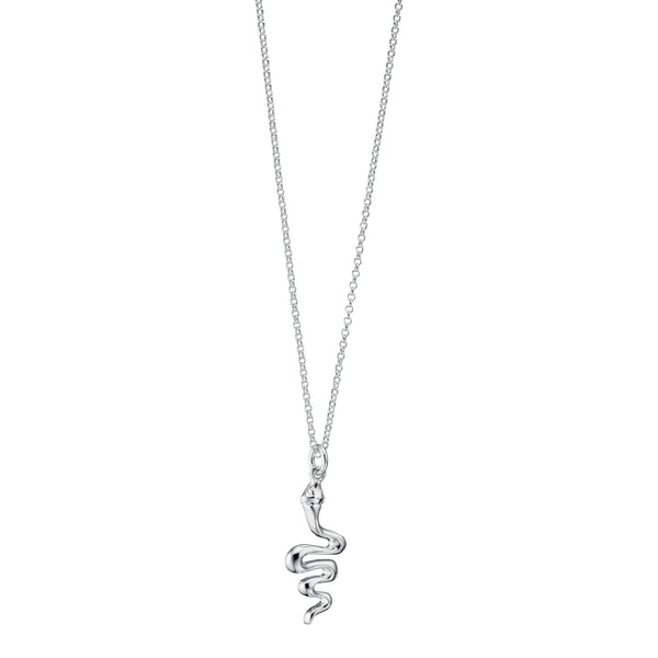 Snake Silver Necklace-VAVOO