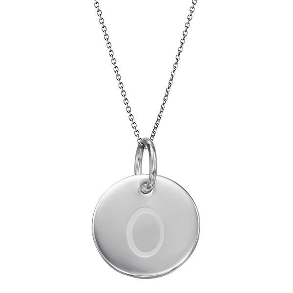 Initial Tag 'O' Silver Necklace-VAVOO