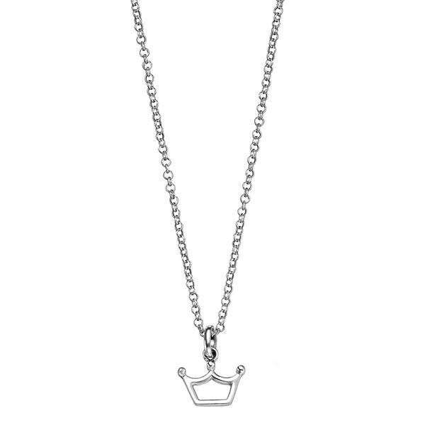 Princess Crown Silver Necklace-VAVOO