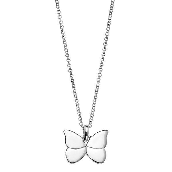 Butterfly Silver Necklace-VAVOO