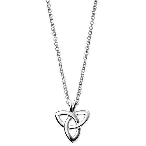 Celtic Triangle Silver Necklace-VAVOO