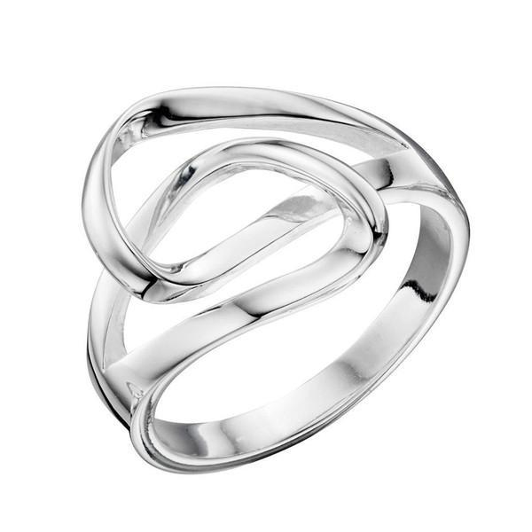 Double Wrap Silver Ring-VAVOO