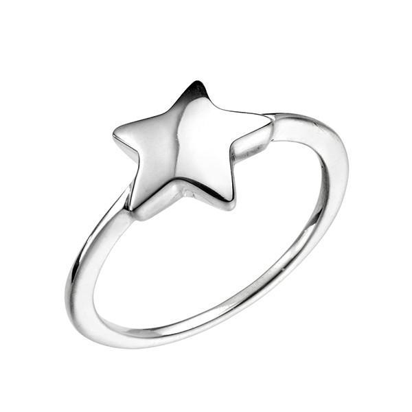 Single Star Silver Ring-VAVOO