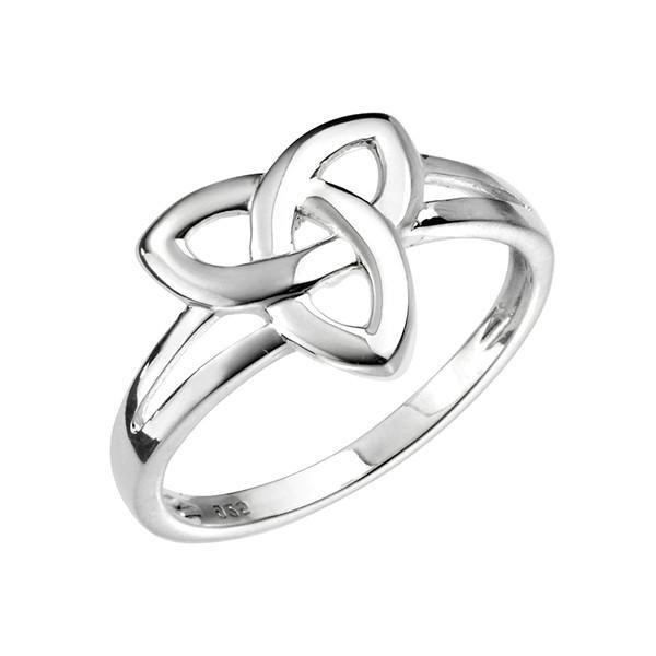 Celtic Triangle Silver Ring-VAVOO