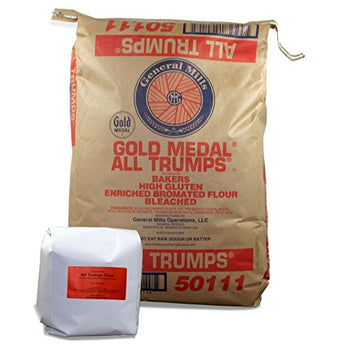 General Mills Gold Medal All Trumps High Gluten Flour - Bleached, Bromated, Enriched - 7 Pound Repack