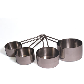 4-Piece Stainless Steel Measuring Cup Set with Wire Handles