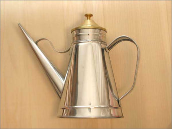 Stainless Oil Cruet with Brass Cover - 1.5 pints