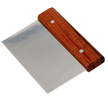 Dough Scraper - Stainless Steel Blade, Wood Handle