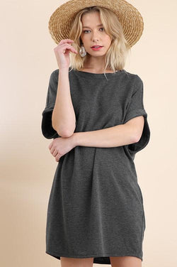 Ash Colored T-shirt Dress