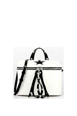Star Crossbody Handbag - White