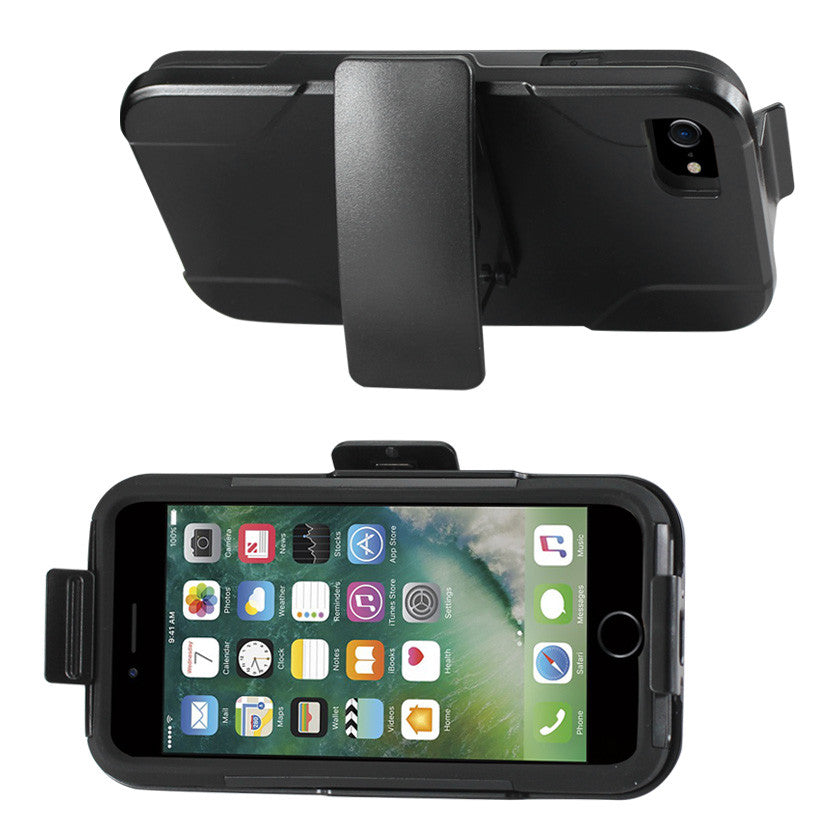 IPHONE 7 HYBRID HEAVY DUTY HOLSTER COMBO CASE IN BLACK