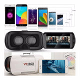 3D VIRTUAL REALITY BOX (VR BOX) GLASSES FOR 3.5 TO 6 INCH SCREEN PHONES IN WHITE BLACK