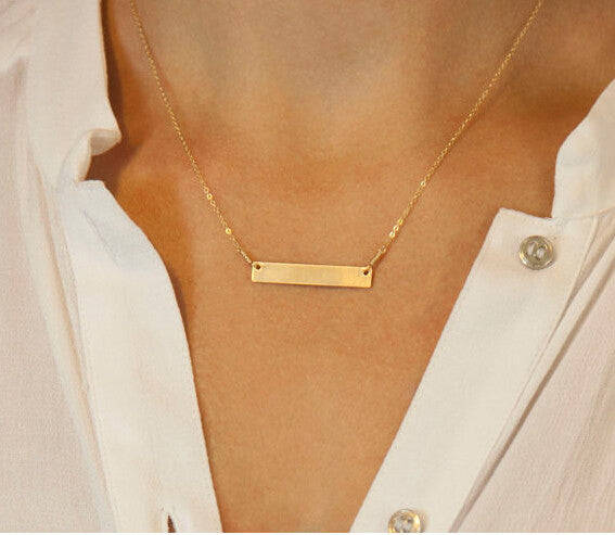 3 Layer Chain Bar Necklace