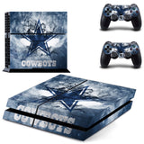 Dallas Cowboys  Sticker for PS 4 for Playstation4 Console Skin & Controller Decal Protective Stickers