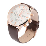 MEGIR Luxury Men's Chronograph Sport Leather