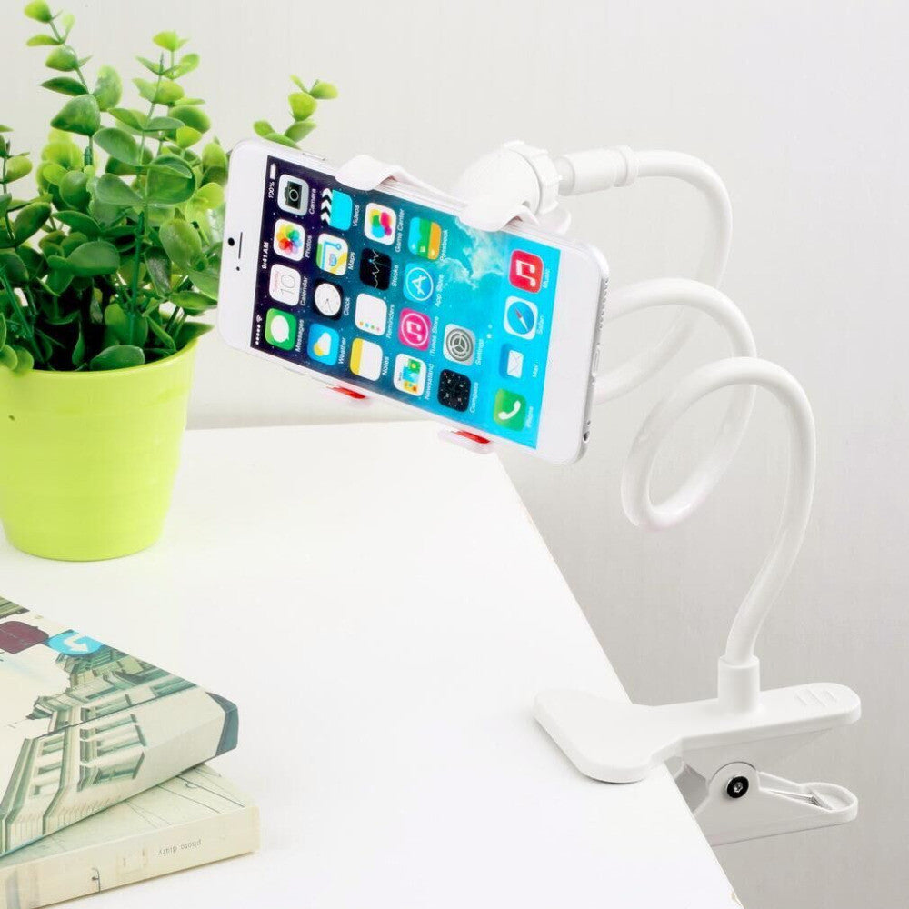 White Lazy Bed Desktop Car Stand Mount