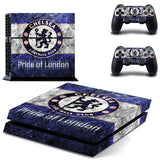 Chelsea Football Team Skin Sticker for Sony PS 4 Playstation 4 Console & 2 Controllers Decal Vinyl Protective Sticker