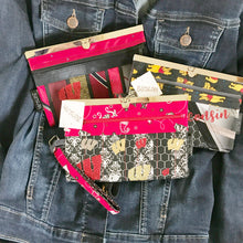 SOLD Red Handkerchief Wisconsin Woman Wallet-Wristlet-Purse - Wallet Deluxe