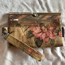 Pepurposed Home Dec Fabric- Vintage Rose - Women's Wallet Deluxe