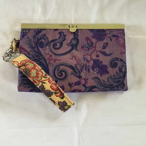 Purple and Gold Handmade fashion bag, clutch, wallet - Barbz.net