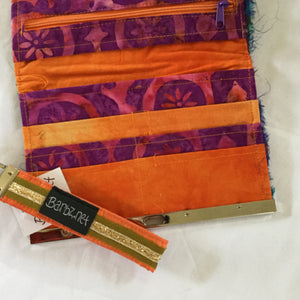 orange silk woman wallet - Barbz.net