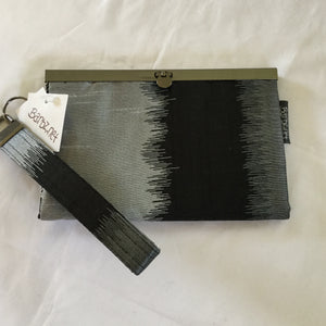 SOLD Black and Gray- Handmade fashion bag, clutch, wallet - Barbz.net