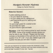 Morgan's Monster Madness Quilt Pattern