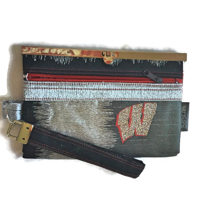 SOLD Wisconsin Woman Wallet Purse Clutch Wristlet Bag