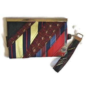 Woman Wallet made from Repurposed Neckties - Wallet Deluxe