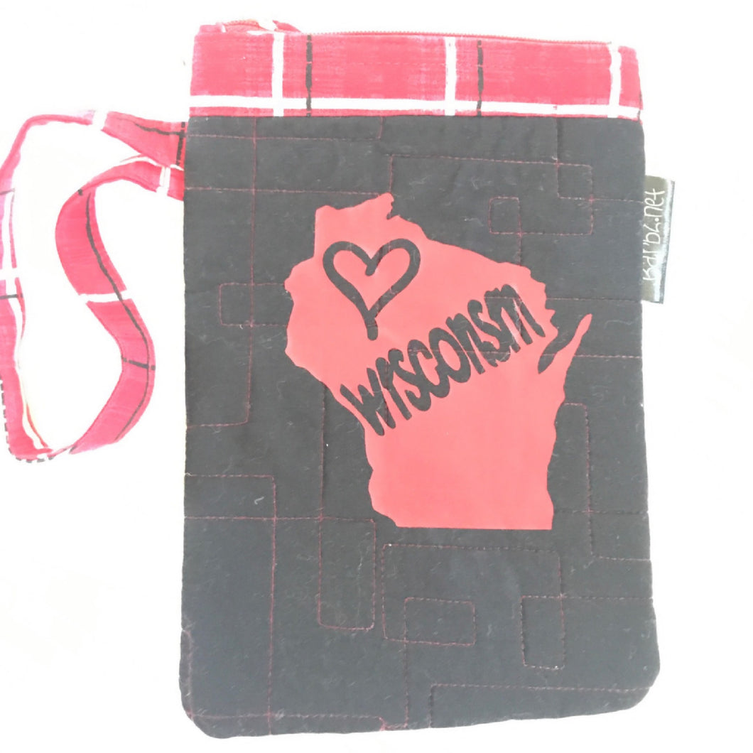 Wisconsin Small Purse, Cell Phone Carrier, Small Zipper Pouch, Barbz.net